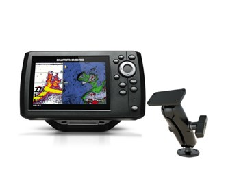 humminbird helix 5 g2 chirp sonar gps combo with ram mounts surface mount