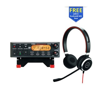 uniden bc355n with jabra evolve 40 stereo headset