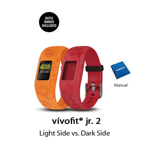garmin vivofit jr.2 star wars light side vs dark