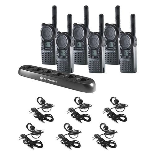 six cls1410 communication kit w one multi unit charger and headsets