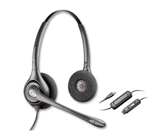 plantronics supraplus hw261n with da45 qd to usb adapter