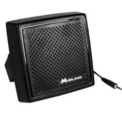 """<ul> <li><span class=""""blackbold"""">External Speaker</span></li> <li>Swivel Base</li> <li><span class=""""bluebold"""">Clear Crisp Sound</span></li> <li>70"""" Cord</li> <li>3.5mm Plug</li> <li>Compatible with: <br />- All Midland CB Radios &amp; MicroMobile Radios</li> </ul>"""