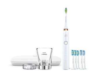 sonicare diamondclean classic white hx9392/96 with 6 brush heads