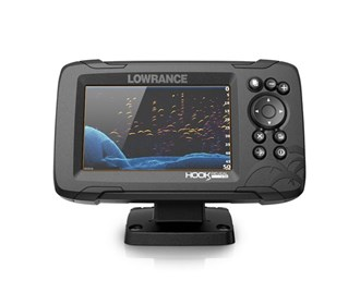 lowrance hook reveal 5 with 50/200 hdi transom mount and us can nav plus charts