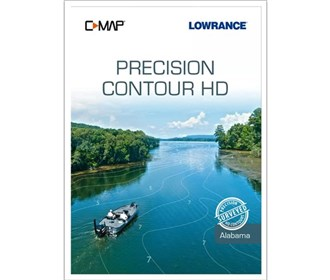 lowrance c map precision contour hd alabama chart