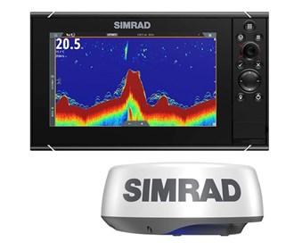 simrad nssevo3s 9 inch amer carto with halo20 plus radar