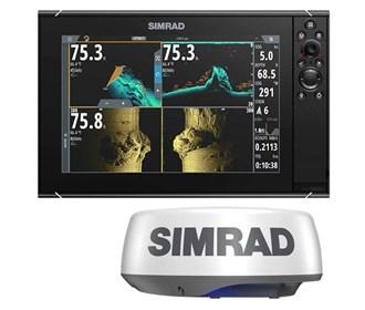 simrad nssevo3s 12 inch amer carto with halo20 plus radar