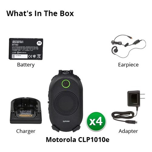 motorola clp1010e 4 pack