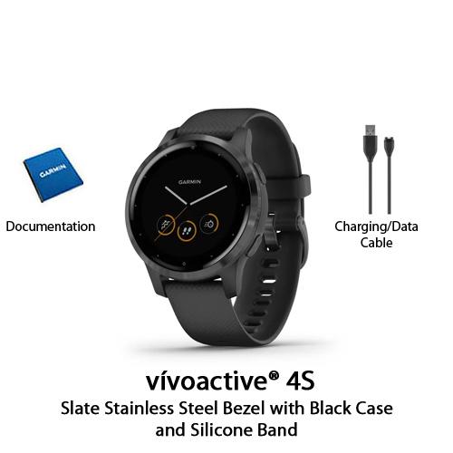 garmin vivoactive 4s black with slate hardware