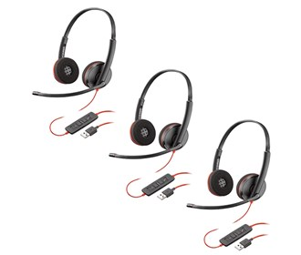 plantronics blackwire c3220 usb a 3 pack
