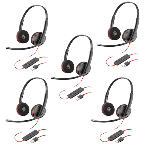 plantronics blackwire c3220 usb a 5 pack