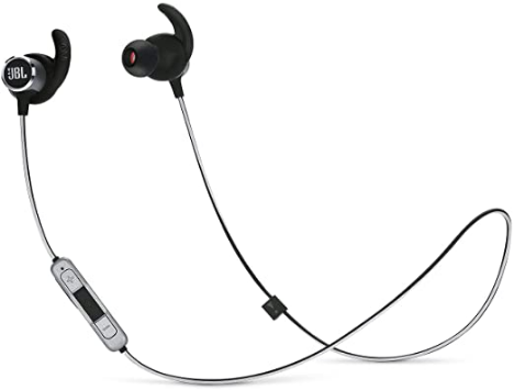 jbl reflect mini 2 wireless in ear sport headphones with three button remote and microphone black