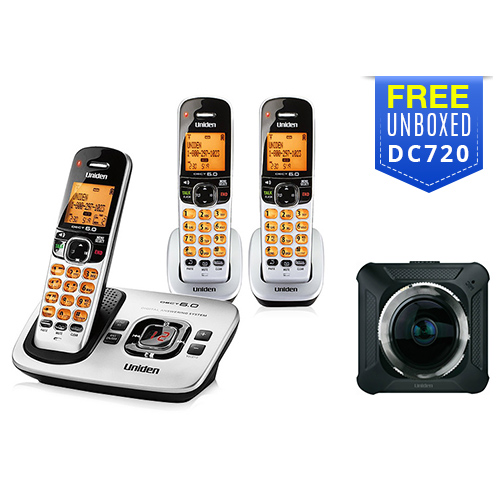 uniden d1780 3 with free dc720 dash camera
