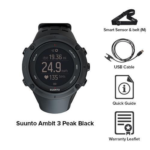 suunto ambit3 peak black