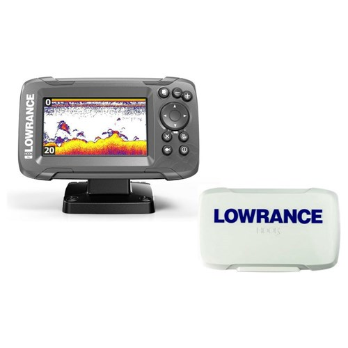 lowrance hook 4x bullet skimmer transducer with sun cover