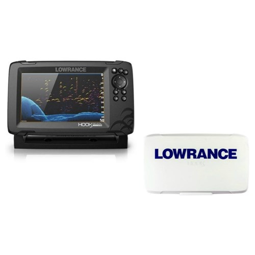 lowrance hook reveal 7 tripleshot transom mount us can nav charts with sun cover 000 15524 001 plus 000 14175 001