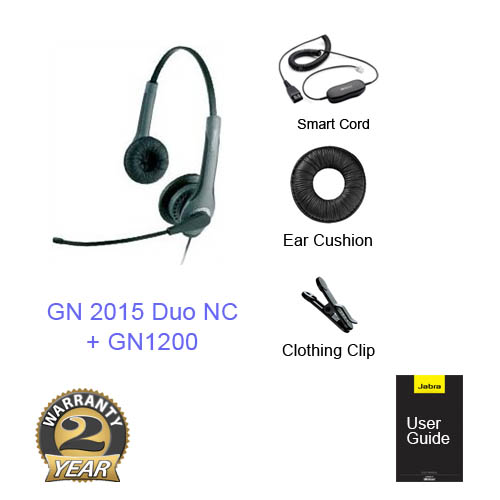 jabra gn2015 duo with gn1200 cable