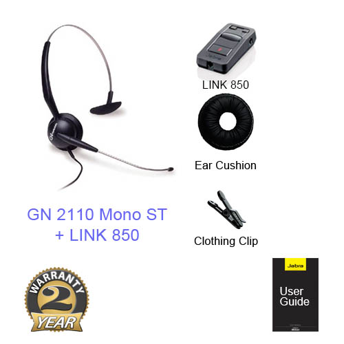 jabra gn2110 mono st with link 860 amp