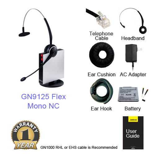 jabra gn 9125 flex mono nc category single pack