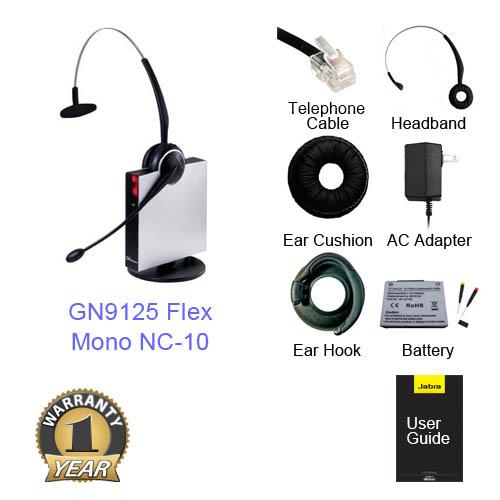 jabra gn 9125 flex mono nc category 10