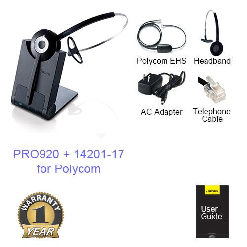 jabra pro 920 mono with ehs polycom 14201 17