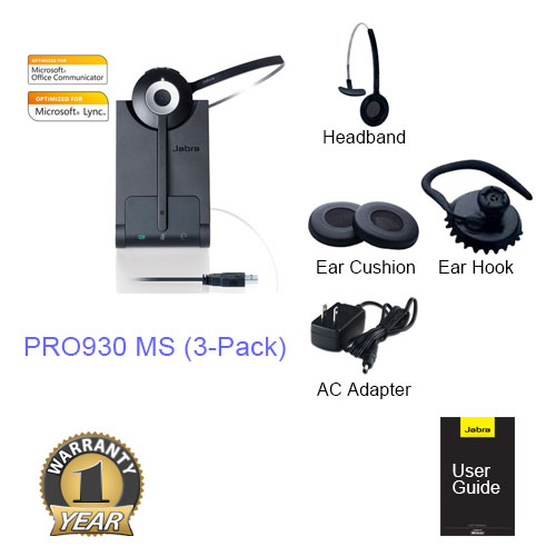 jabra pro 930 ms 3 pack
