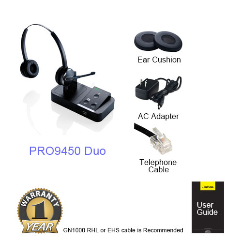 jabra pro9450 duo for polycom