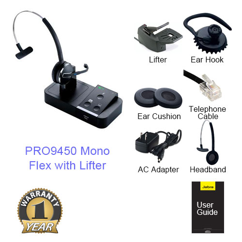 jabra pro 9450 mono flex with lifter