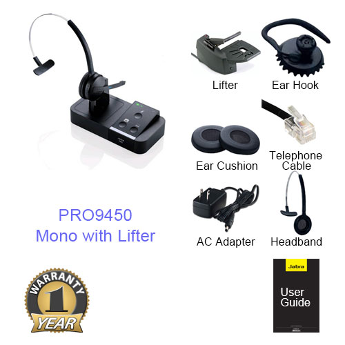 jabra pro 9450 mono with lifter