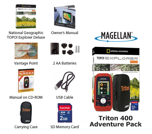 magellan triton 400 adventure pack