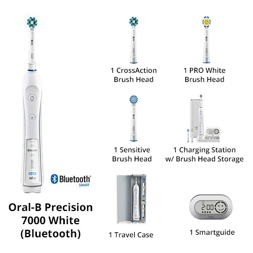 oral b precision 7000 white bluetooth