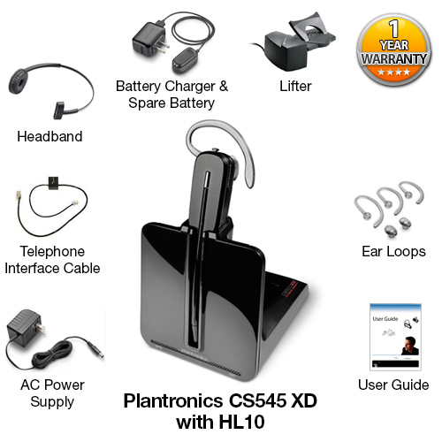 plantronics cs545 xd with hl10 lifter