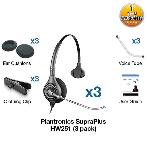plantronics supraplus hw251 3 headsets