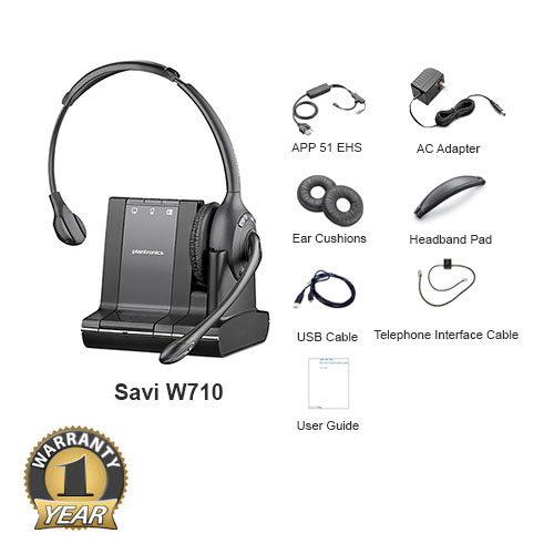 plantronics savi w710 with ehs app 51 for polycom