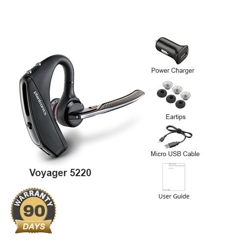 plantronics voyager 5220 with vehicle power charger