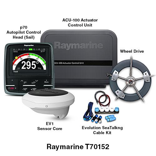raymarine ev 100 wheel evolution autopilot system