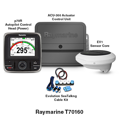 raymarine ev 300 power solenoid evolution autopilot system